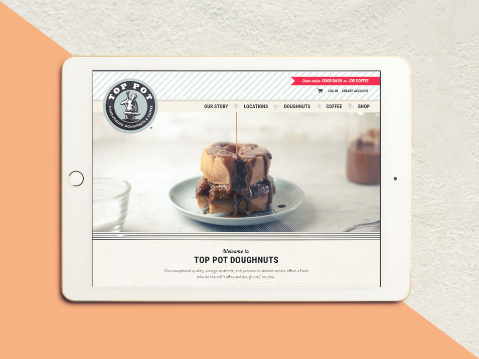 Top Pot Doughnuts Website